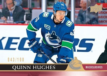 Quinn Hughes 2020-21 UD Exclusives