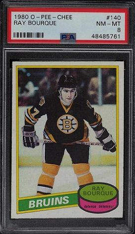 Ray Bourque 1980-81 OPC RC PSA 9 nm-mt