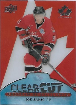 Joe Sakic 2017-18 Canadian Tire Clear Cut POE