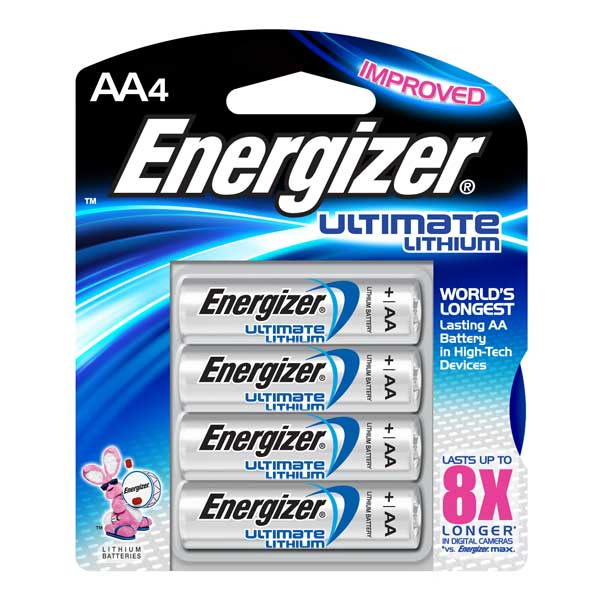new energizer ultimate lithium aa batteries 4 pack ebay. Black Bedroom Furniture Sets. Home Design Ideas