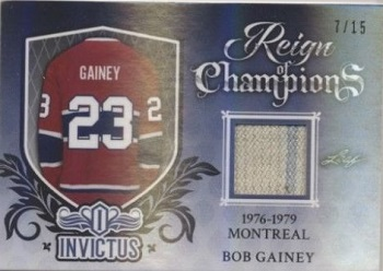 Bob Gainey Invictus Game Used Jersey