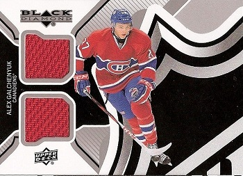 Alex Galchenyuk Black Diamond Dual Jersey Rookie Card