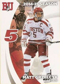 Matt Grzelcyk Boston University hockey card