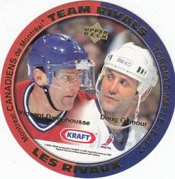 1996-97 Kraft Team Rivals Damphousse Gilmour