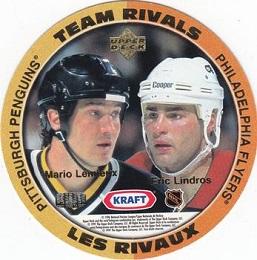 1996-97 Kraft Team Rivals Lemieux Lindros