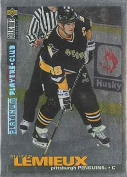 Mario Lemieux Collector's Choice Platinum Player's Club