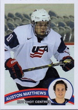 Auston Matthews Hot Shot Rookie Card