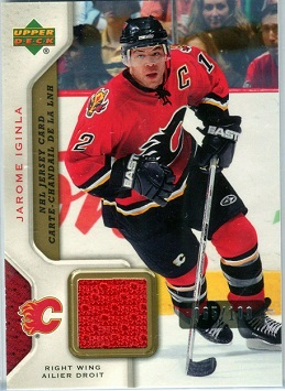 Jarome Iginla 2007-08 McDonalds NHL Jersey card