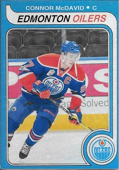 Connor McDavid Wayne Gretzky Rookie Card Look-A-Like.