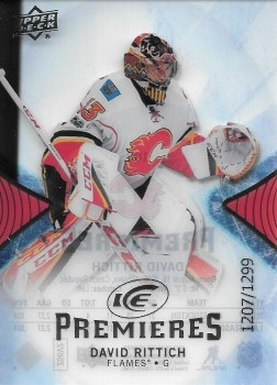 David Rittich Upper Deck ICE Rookie Card