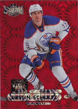 Justin Schultz Fleer Metal Red RC #57/75