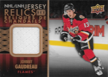 Johnny Gaudreay 2015-16 Tim Hortons Jersey Relic