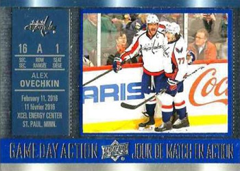 2016-17 Tim Horton's Game Day Action Ovechkin