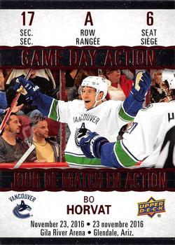 Bo Horvat 2017-18 Tim Horton's Game Day Action