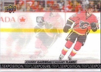 Johnny Gaudreau 2017-18 Tim Hortons Triple Exposure