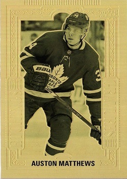 Auston Matthews 2018-19 Tim Horton's Gold Etchings