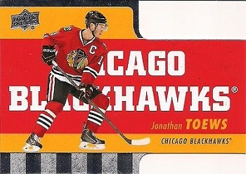 Jonathan Toews Tim Horton's Die-Cut Hockey Card