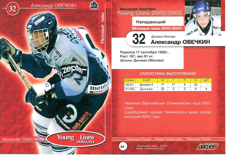 Alexander Ovechkin 2002-03 Russian Young Lions #2