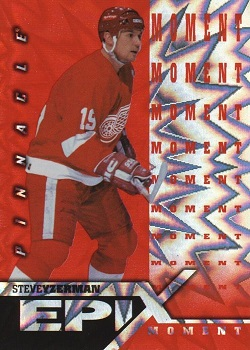 Steve Yzerman Pinnacle Epix Orange Play